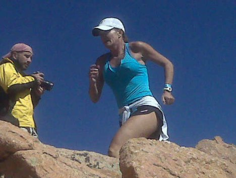 Michelle Blessing Running on Pikes Peak 2009